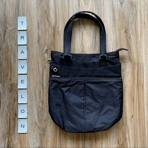 TRAVELON Large Black Shoulder Bag - POCKETS!